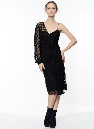 Koton Puantiye Detaylı Maxi Elbise Siyah